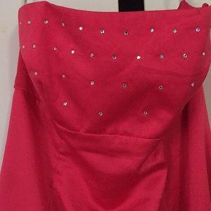 Zum Zum by Niki Livas Dresses - Fuchsia strapless dress.